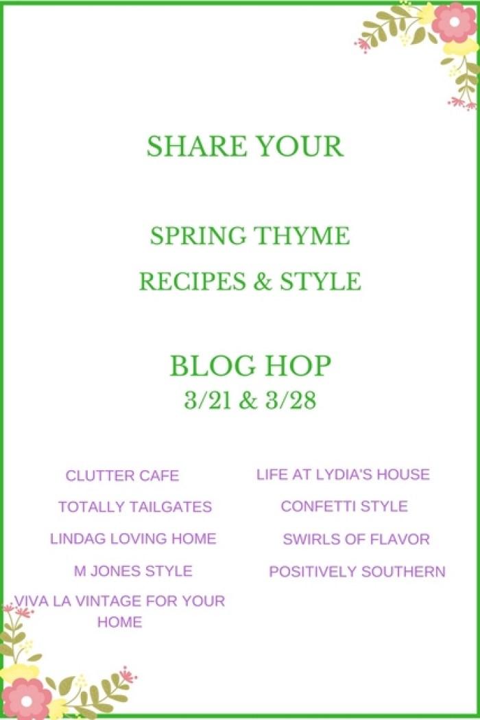 Spring Thyme blog hop!