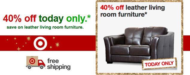 targetcom 40 off leather living room furniture