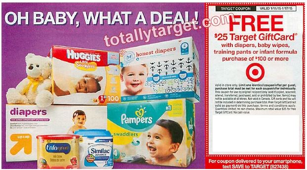 Get A FREE $20 Target Gift Card With A Baby Department Purchase Of ...