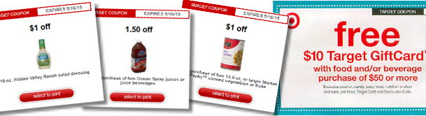 Coupons at target policy