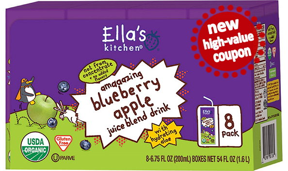 new $2/1 ella's kitchen toddler drink coupon & deals