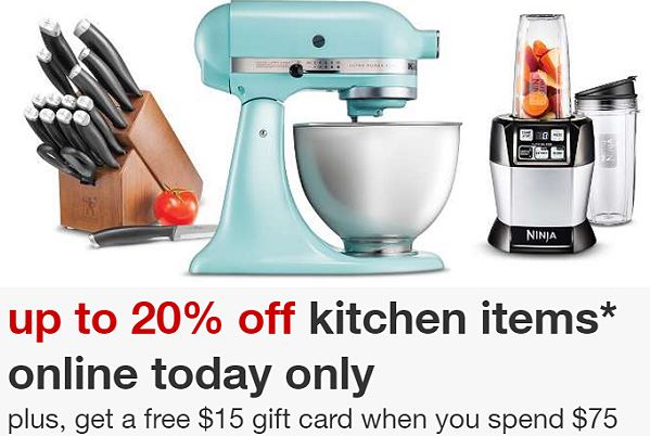 Up To A Triple Discount On Select Kitchen Items Today Only Free 15 Target Gift Card With 75