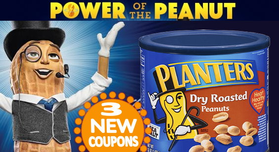 –.75¢ on any TWO (2) PLANTERS Peanuts (6 oz or larger) –$1.00 on any ONE  (1) PLANTERS NUT-rition Product (7.5 oz or larger) - New Printable Coupons For Planters Nuts And More TotallyTarget.com