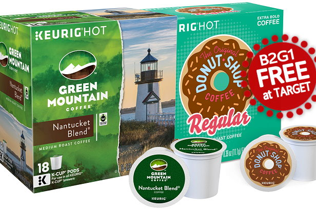 just a reminder that the offer for b2g1 free deal on select donut shop or green mountain kcups both online and in stores will be ending tomorrow - Donut Shop Coffee