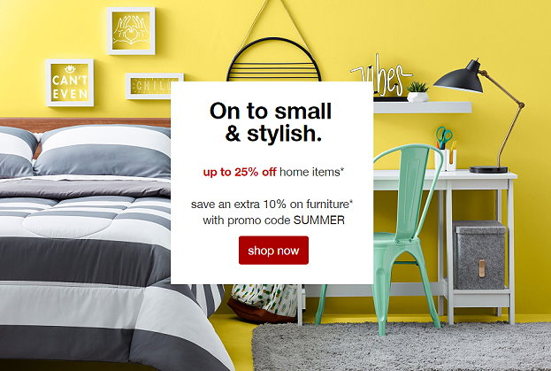 Target Home Sale Save Up To 25 On Furniture Home Extra 10