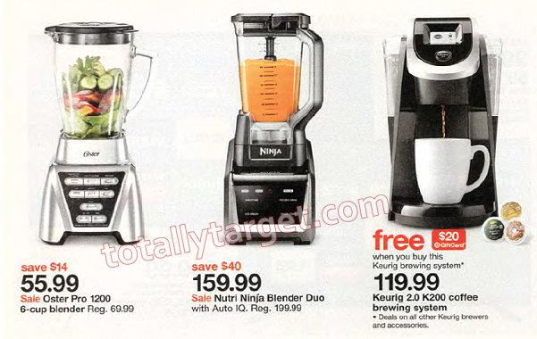 deals get an extra 25  off all kitchen appliances at target thru 11 12      rh   totallytarget com