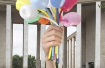 """Jeff Koons, """"Bouquet of Tulips"""", 2016. Reprodução de ilustração 3D da obra"""