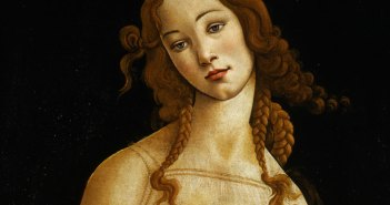 Sandro Botticelli and workshop, Venere (Venus) [DETALHE], Oil on canvas, transferred from wood panel, Galleria Sabauda, Turin, inv. 172