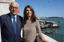 Paolo Baratta, Presidente da Bienal de Veneza, e Christine Macel, curadora da Viva Arte Viva