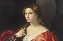 "Palma EL VIEJO (Jacopo Negretti) Retrato de una mujer joven llamada ""La Bella"", c. 1518-20"