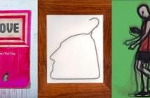 Da esquerda para a direita: Harland Miller, Ai Weiwei, Julian Opie