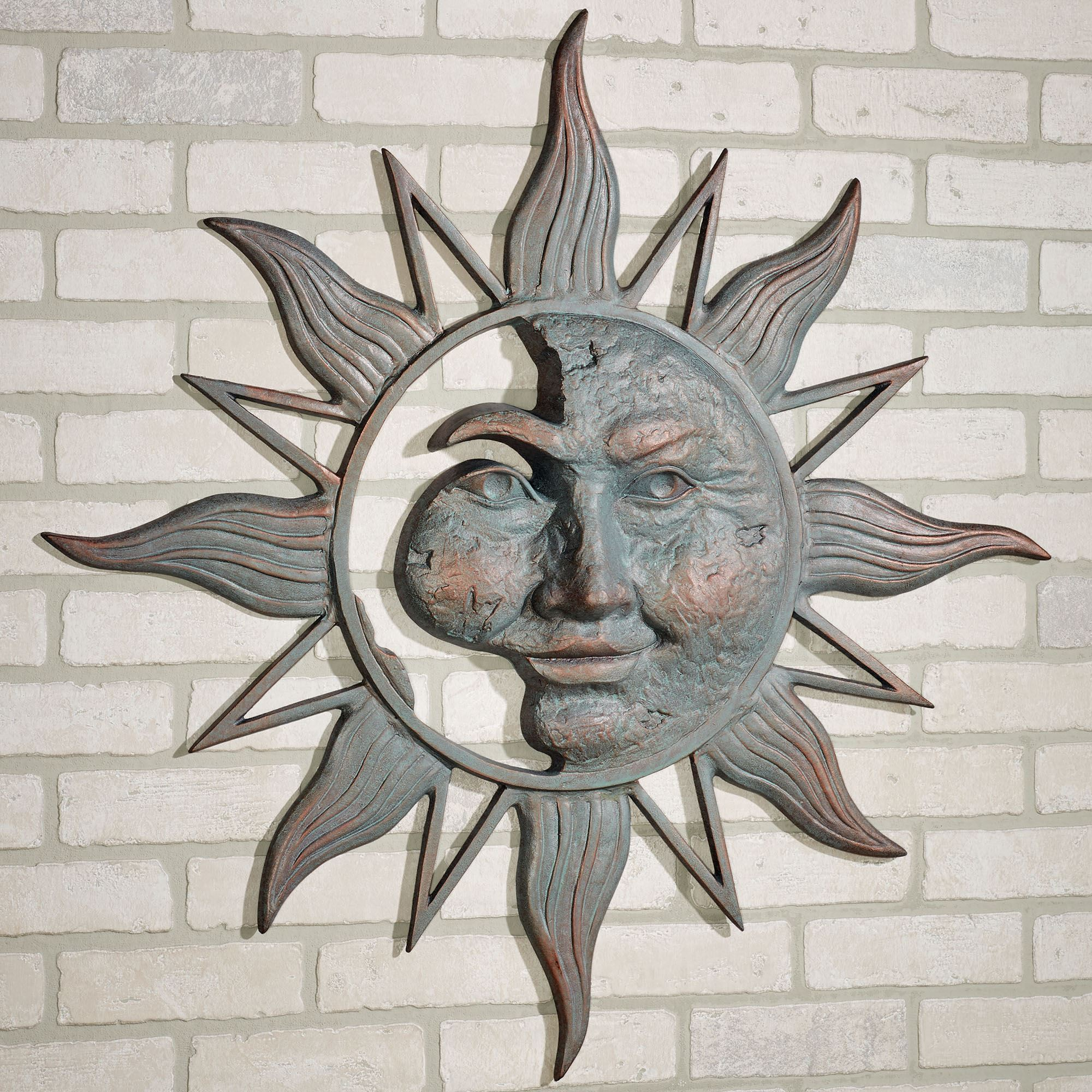 Cordial Touch To Zoom Half Face Sun Outdoor Metal Wall Art Outdoor Wall Art Canvas Outdoor Wall Art Compass houzz 01 Outdoor Wall Art