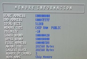 Amiga SysInfo Chip RAM
