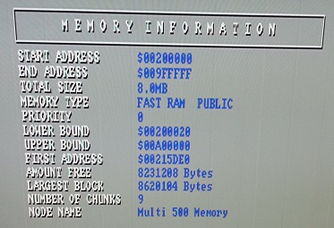 Amiga Sysinfo Fast RAM