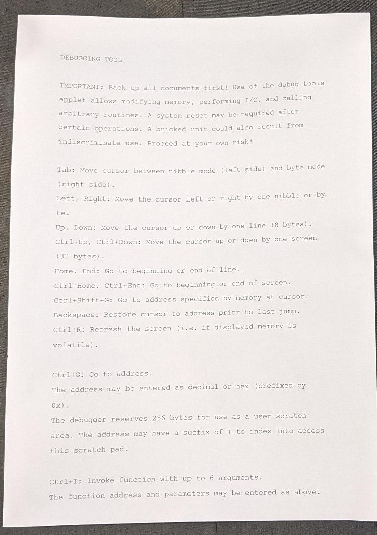 AlphaSmart Neo printing output
