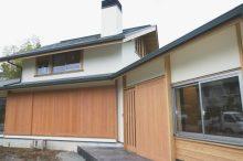 木製建具玄関・外観