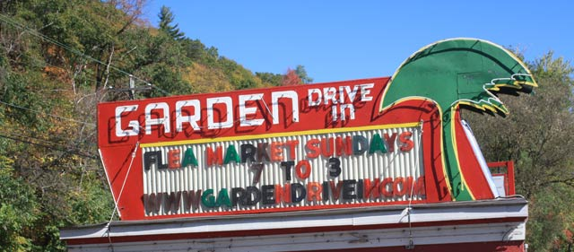 sign for Garden Drive In