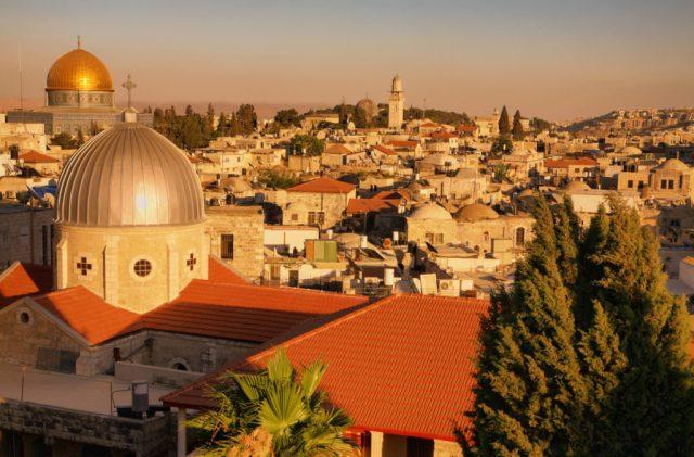 Old City at The Sunset-Jerusalem-Israel-noam chen