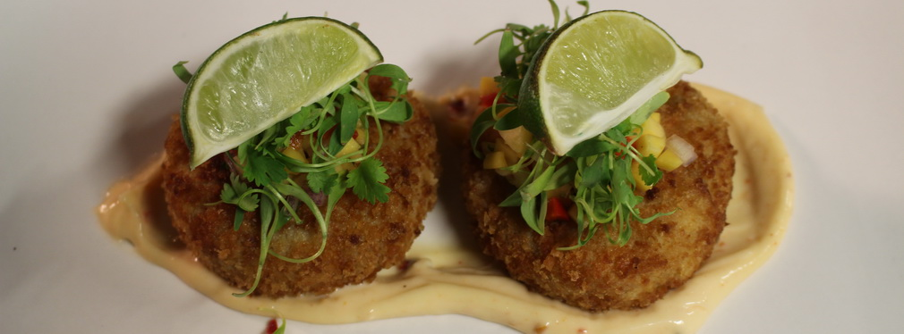 Crab Cakes at the Taste of Burlington Event
