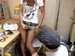 【レイプ盗撮動画】万引きの代償に10代ギャルが事務所で償い…若い身体に店長思わず生中出しww