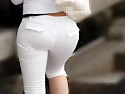 【街撮り盗撮画像】パンティラインがくっきり見える白タイトスカートや白パン女子を隠し撮りww