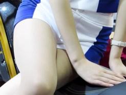 【キャンギャル盗撮動画】東京モーターショー2015でむっちり太ももでホットパンツ履いたコンパニオン接写撮りww
