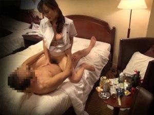 【マッサージ隠撮動画】ビジネスホテルに派遣される出張メンズエステティシャンとココまで性行為出来るとは…