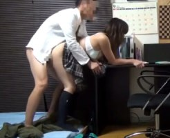 【JKセックス盗撮動画】性行為にハマってしまった女子校生が家庭教師と昼夜問わずハメてるところを隠しカメラ撮り…