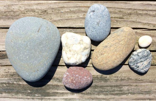 Assorted rocks dry