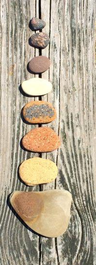 Brownish rocks dry