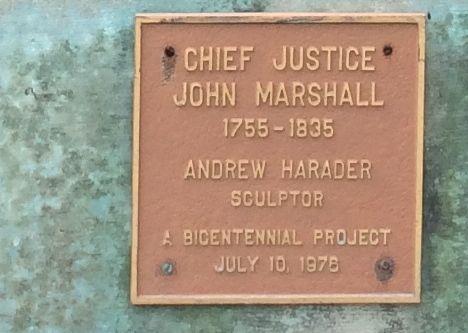 Chief Justice Marshall Plaque