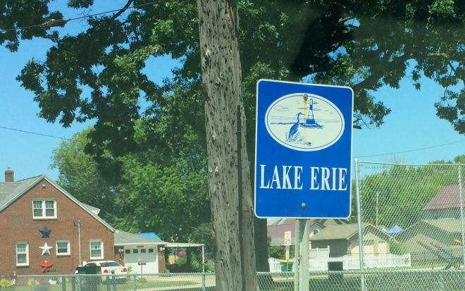 Lake Erie sign