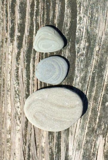 Layered rocks dry