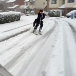 Committed Student Skis to the Library When Buses are Canceled: VIDEO