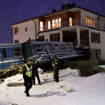 Swedish Cleaning Lady Steals Commuter Train, Plows it Into Apartment Building: VIDEO