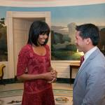 Michelle Obama Greets Discharged 'DADT' Airman and Inauguration Citizen Co-Chair David Hall: PHOTO