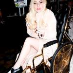 Lady Gaga Surfaces in 24-Karat Gold Wheelchair