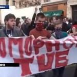 French Gay Rights Activist Clement Meric Seen Holding 'Homophobia Kills' Banner at March: VIDEO