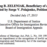 For Immigration Purposes, Validity of Same-Sex Marriages Likely to Be Based On Where Couples Were Married