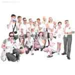 Russian Athletes Pose For NOH8 Campaign