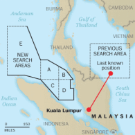 Search for Malaysian Airliner Turns to Completely New Area