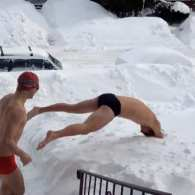 Snow Swimming: VIDEO