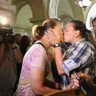 Dozens of Couples Marry in Wisconsin After Gay Ban Struck Down: VIDEO