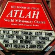 Harlem Hate Church Gets New Sign Attacking Homos, Maya Angelou, Ali Forney Center