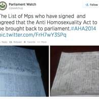 Members Of Ugandan Parliament Sign Petition To Swiftly Reinstate Anti-Homosexuality Act