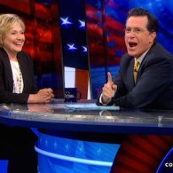 Hillary Clinton Makes Surprise 'Colbert' Drop-In to Drop Some Names: VIDEO