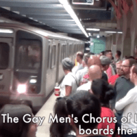 Gay Men's Chorus of Los Angeles 'Mobs' L.A. Metro With Holiday Cheer: VIDEO