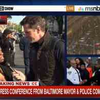 Baltimore Protester Fires Back at MSNBC's Thomas Roberts Over Media Coverage of Riots: VIDEO