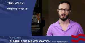 Gay Marriage News Watch