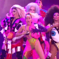 Miley Cyrus and the Queens of RuPaul's Drag Race Slay the VMAs With 'Dooo It!' – WATCH